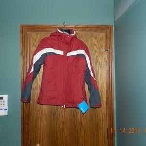 NWT Columbia Interchange Red/Grey/White Jacket